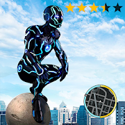 Neon Iron Stickman Rope Hero Gangstar Crime