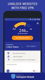 Rocket VPN Free Internet Freedom VPN Proxy Apk Son S r m 2021 3