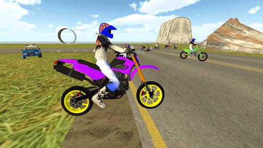 Bike Rider VS Cop Car - Police Chase & Escape Game Apkfinish screenshots 2