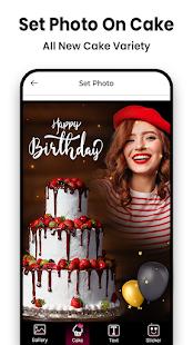 Name Photo On Birthday Cake
