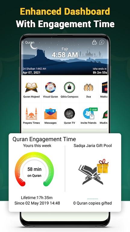Quran Majeed – القران الكريم: Prayer Times & Athan  poster 3