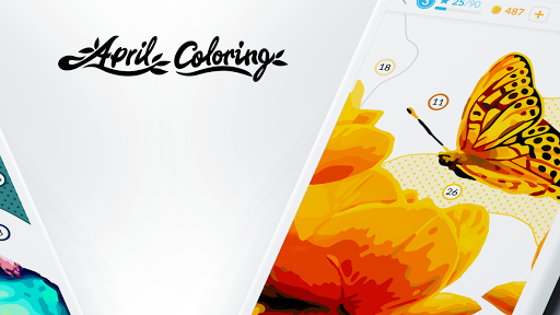 April Coloring - Color by Number & Coloring Games screenshots 2