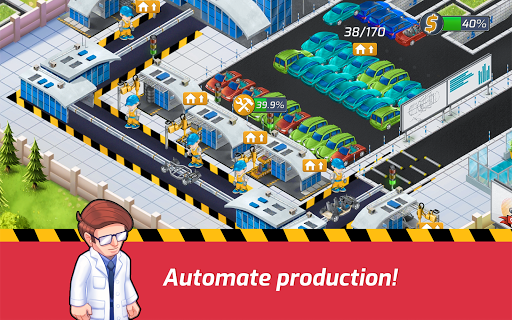 Idle Car Factory: Car Builder, Tycoon Games 2020ud83dude93 modavailable screenshots 8