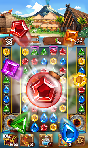 Sea of Jewels : Aloha ! Match3 puzzle modavailable screenshots 4