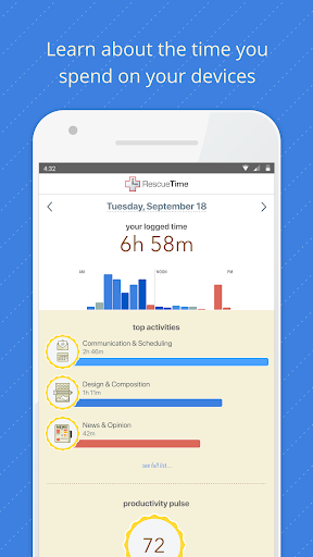 rescuetime time management and digital wellness screenshot 1