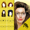 Hairstyle Changer app, virtual makeover women, men