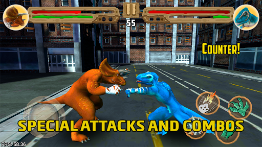Dinosaurs fighters 2021 - Free fighting games 2.3 screenshots 1
