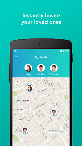 family locator, gps tracker&parental control screenshot 1
