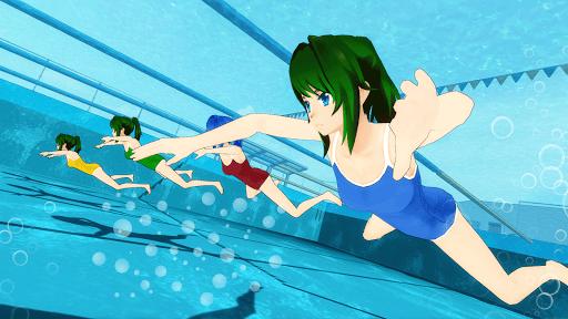 Anime High School Girl 3D Life - Yandere & Sakura apkpoly screenshots 2