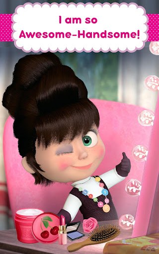 Masha and the Bear: Hair Salon and MakeUp Games apkpoly screenshots 11