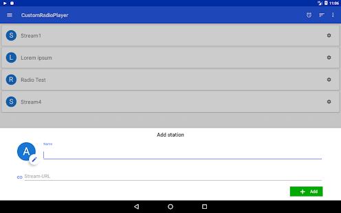 CustomRadioPlayer - Basic URL-RadioStream App