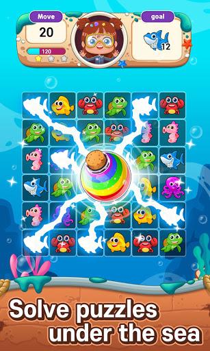 Ocean Match-3 Puzzle apkpoly screenshots 1
