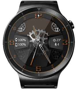 Carbon Gears HD Watch Face Widget & Live Wallpaper