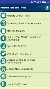 Tips Tricks for Android Phones 2.3 Mod APK (Unlock All) 1