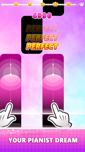 Magic Pink Tiles: Piano Game apktram screenshots 2