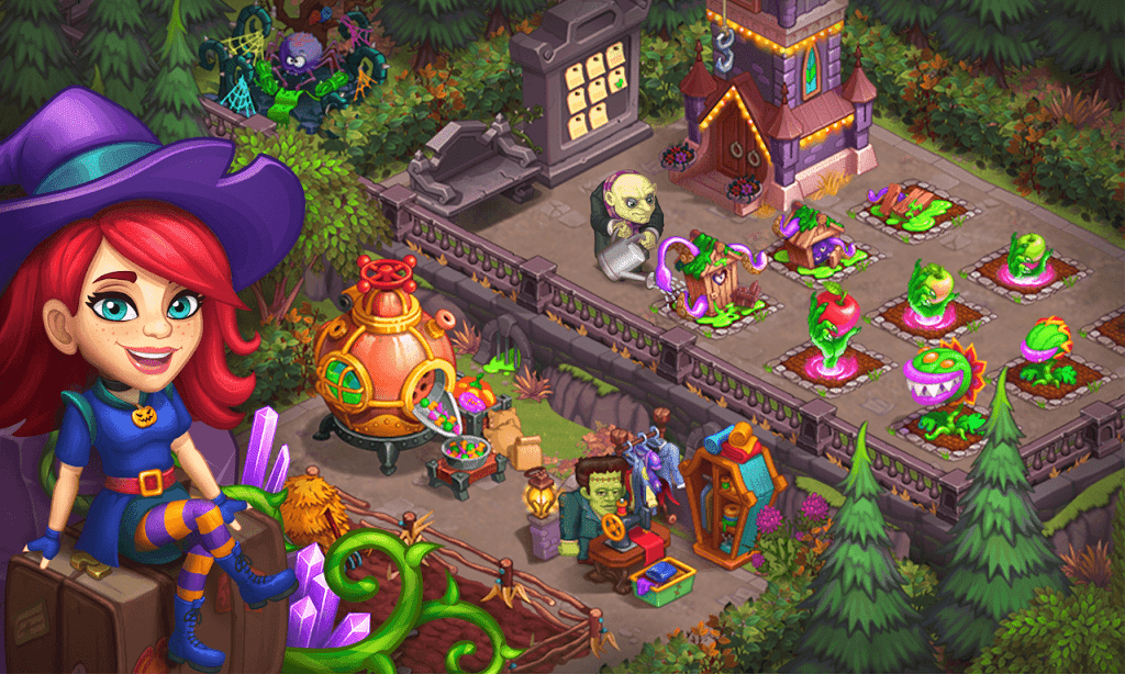 Monster Farm - Happy Ghost Village - Witch Mansion poster 6