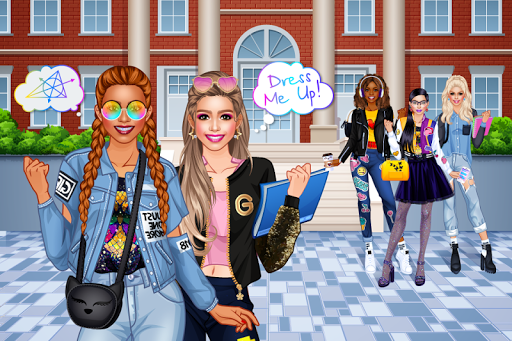 College Student Girl Dress Up android2mod screenshots 1
