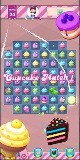 Kwazy Cupcakes : Free Match 3 Puzzle Game 3.8.0 screenshots 4