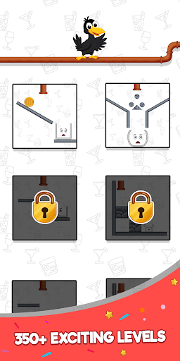 Happy Crow - Fill the Glass by Draw Lines 3.5.1 screenshots 4
