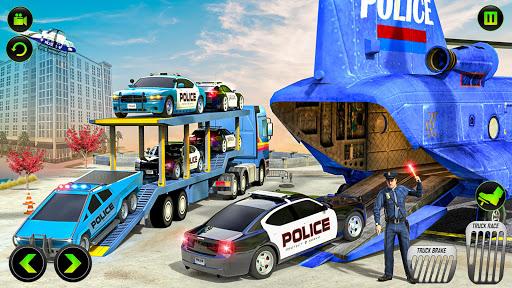 US Police CyberTruck Car Transporter: Cruise Ship 1.1.1 Screenshots 2