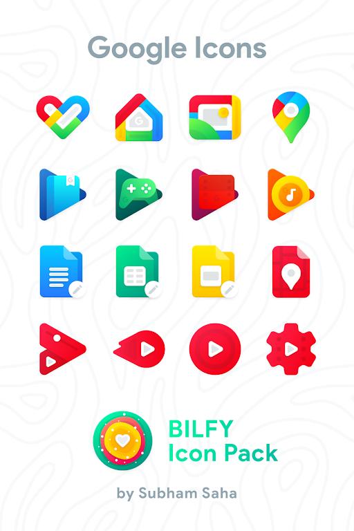 Bilfy Icon Pack  poster 1