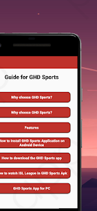 Guide for GHD Sports Apk Download NEW 2021 1