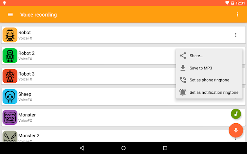 VoiceFX - Voice Changer with voice effects 1.1.8d-google Screenshots 10
