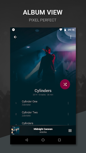 BlackPlayer Free Music Player modavailable screenshots 4