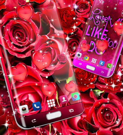 Red rose live wallpaper apktram screenshots 6