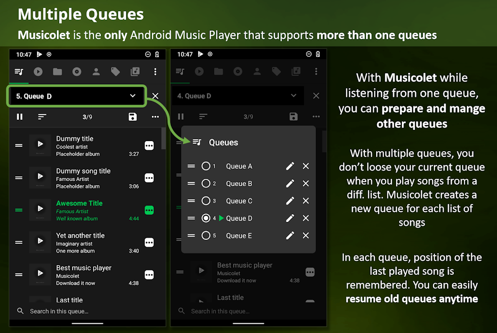 Musicolet Music Player [No ads]  poster 1