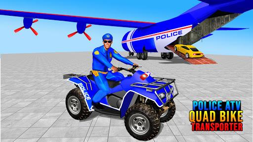 US Police ATV Quad Bike Plane Transport Game 1.4 Screenshots 1