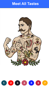 Adult Tattoo Pixel Art Sandbox Color By Number