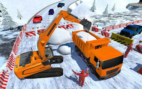 Heavy Excavator & Dozer Simulator u00b7 Snow JCB Game screenshots 4