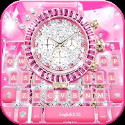 Lux Pink Watch Keyboard Theme