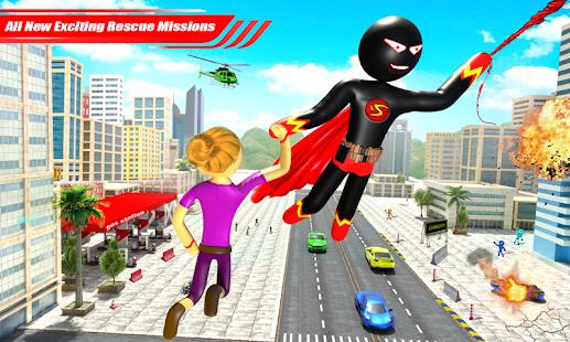 Real Police Stickman Rope Hero 18 Screenshots 2