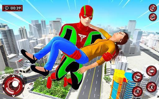 Superhero Light Robot Rescue: Speed Hero Games  Screenshots 1