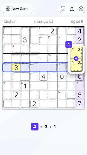 Killer Sudoku - Free Sudoku Puzzle, Brain Games  screenshots 4
