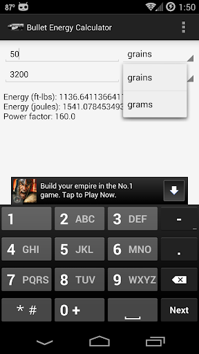 Bullet Energy Calculator For PC Windows (7, 8, 10, 10X) & Mac Computer Image Number- 6