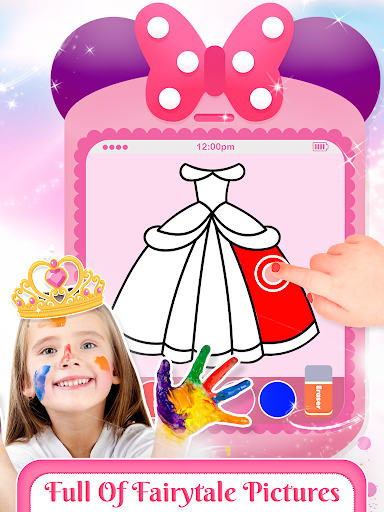 Pink Little Talking Princess Baby Phone Kids Game 9.0.1 screenshots 2