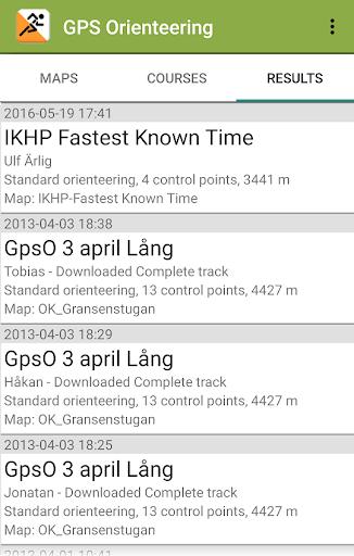 gps orienteering demo screenshot 3