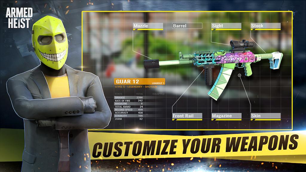 Armed Heist: TPS 3D Sniper shooting gun games  poster 2