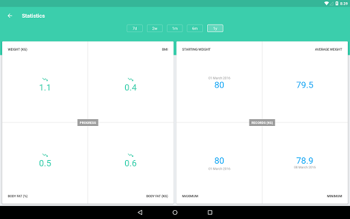 BMI and Weight Tracker 3.8.5 Screenshots 9