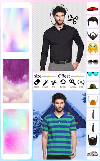 Men T-Shirt Photo Editor and Sweatshirt Dress apktram screenshots 2