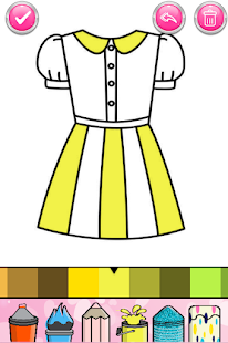 Glitter Dresses Coloring Book - Drawing pages 7.0 Screenshots 13