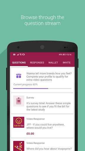 voxpopme - paid video surveys screenshot 2