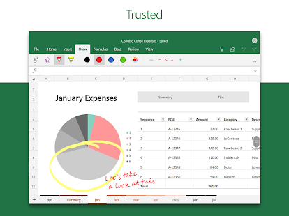 Microsoft Excel: View, Edit, & Create Spreadsheets Screenshot