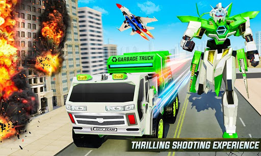 Flying Garbage Truck Robot Transform: Robot Games 25 screenshots 2