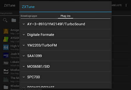 ZXTune - Chiptunes-Player Screenshot