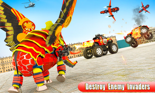Flying Monster Truck Transform Elephant Robot Game 2.0.9 Screenshots 2