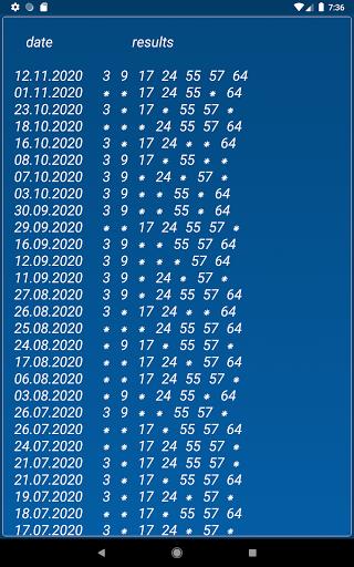 Keno FR combination statistics  screenshots 11